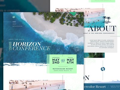 Horizon Website business conference horizon one-page website beach landing page
