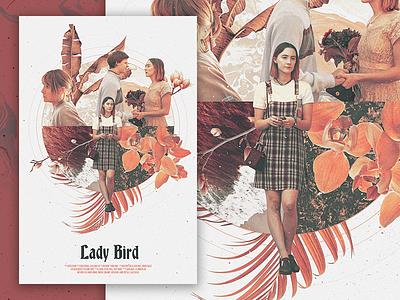Lady Bird Poster photomanip photoshop lady bird print poster movie