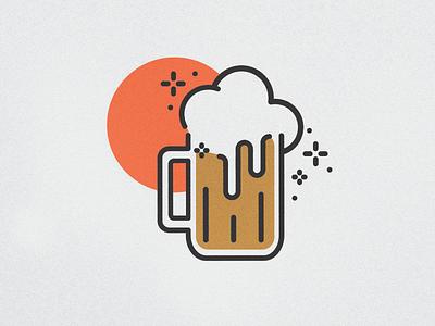 Beer Mug Icon linear drink brewery bar beer illustration badge icon