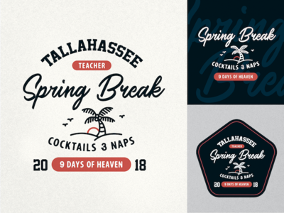 Tallahassee Spring Break palm tree florida spring break badge tallahassee