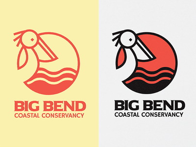 BBCC Variation illustration minimal tallahassee big bend ocean pelican