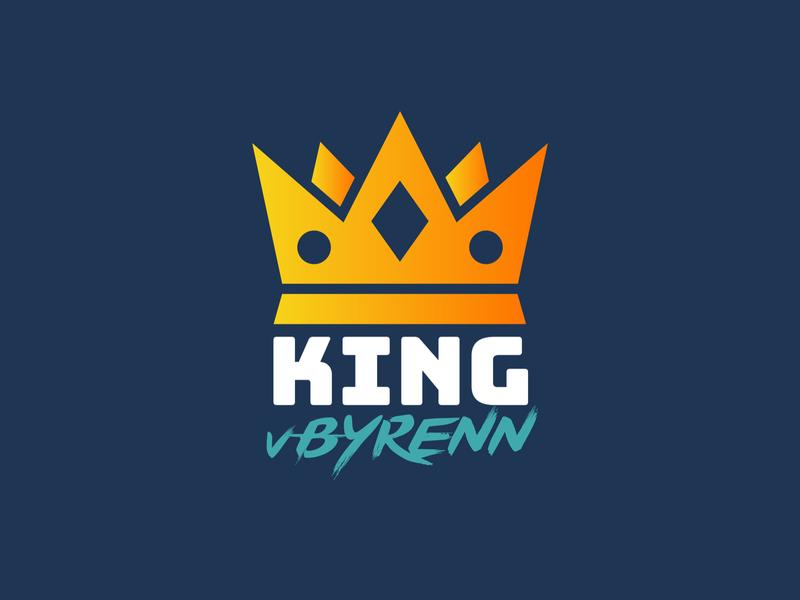 Twitch streamer logo - King vByren crown branding logo king gaminglogo twitch logo twitch