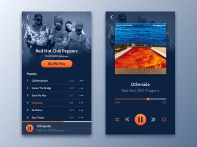 Daily UI #009 - Music Player music player daily ui