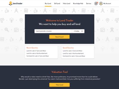 Land Trader search web ui