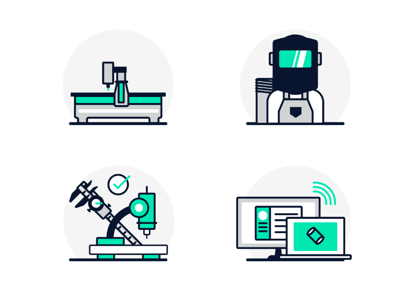 Machining spot illustrations by jourdan rahschulte dribbble for Hashicorp careers