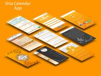 Shia calendar Mobile UI