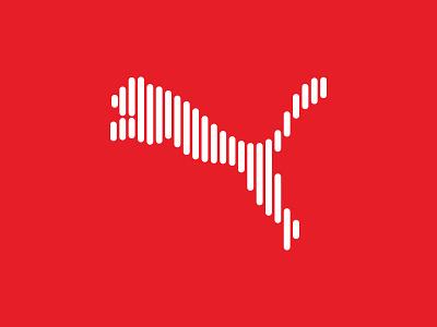 Puma logo-Line Art graphic iranian typography ui  ux design design dribbble illustration icon flat symbol mark logo line art puma identity branding