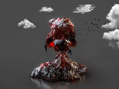 Crystal Mountain iranian design illustration cloud cinema 4d c4d render art abstract 3d
