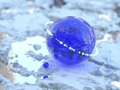 Blue Planet landscape iranian illustration dribbble design graphic render abstract planet blue 3d art cinema 4d c4d 3d