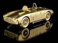 Gold Aston Martin DB3