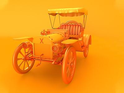 Vintage Car animation 3d 3d artist 3d art modeling app branding graphic design illustration dribbble orange color car vintage render cinema 4d c4d 3d