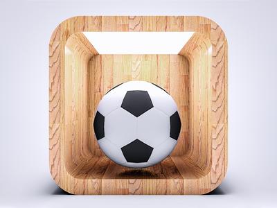 Soccer 3D Icon iranian website ux branding logo illustration graphic dribbble design app icon app cinema 4d c4d 3d art 3d icon