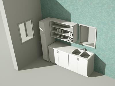 A clean kitchen kitchen clean c4d