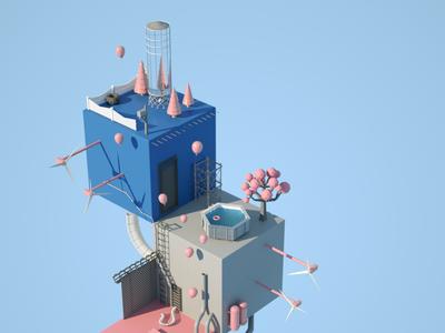 Cubeland tiny c4d