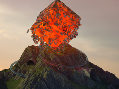 Digital Volcano octane c4d