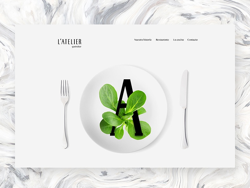 L'Atelier illustration visual ux ui typo brand
