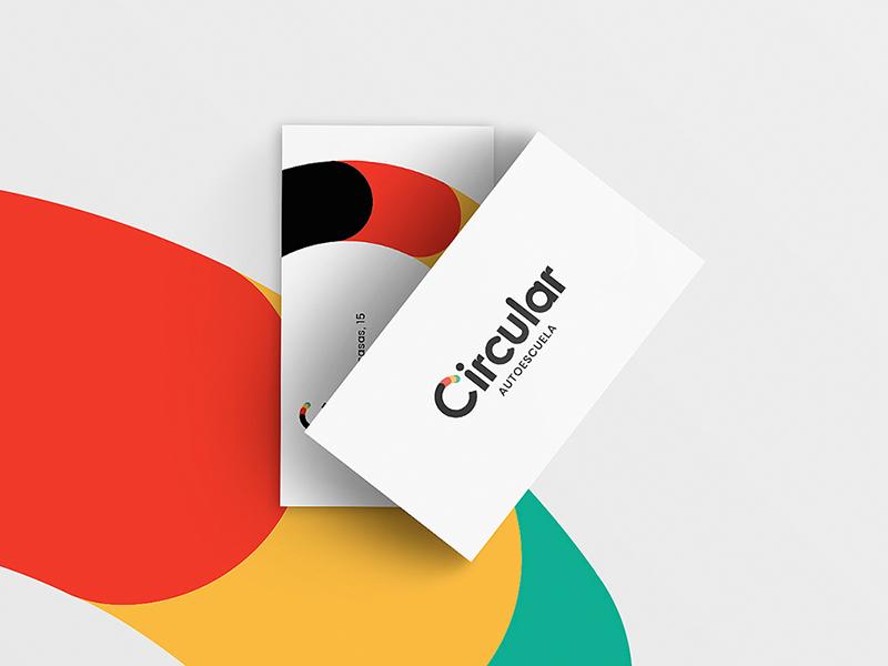 Circular card design mark branding brand identity typography logo logotype