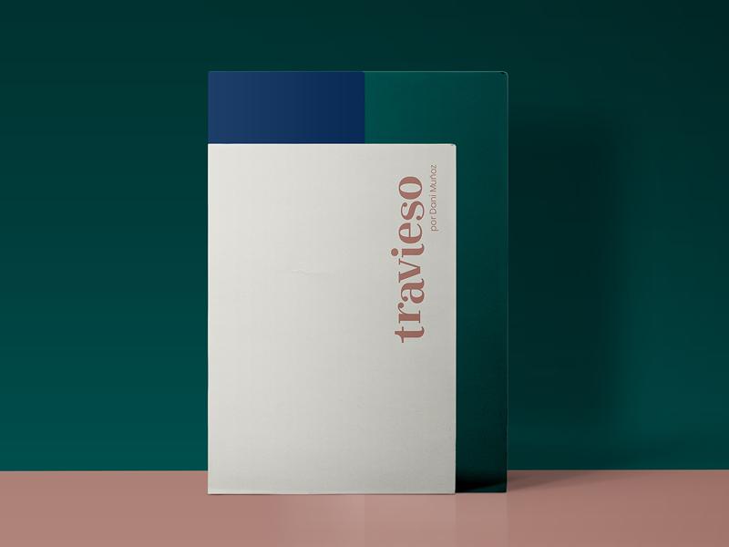 Travieso chef food restaurant setdesign color identity minimal clean geometric graphic design brand