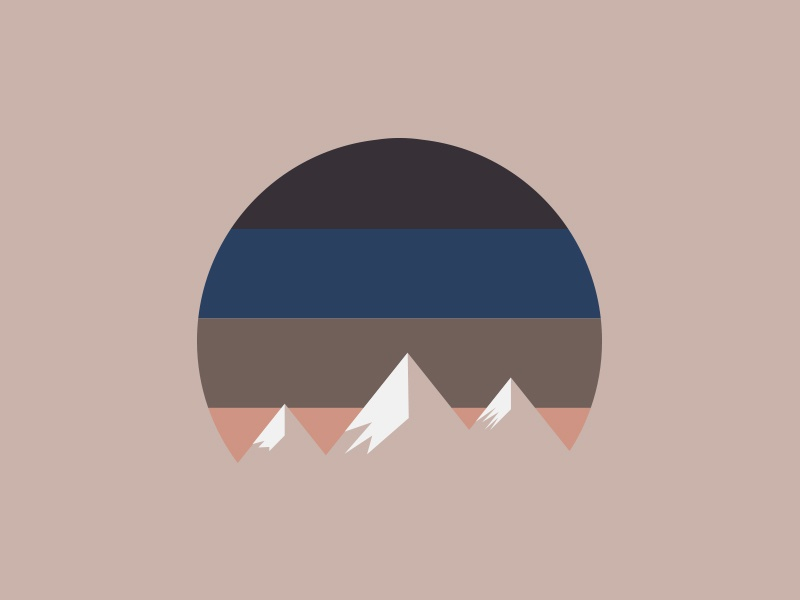 Snow-capped peaks outdoors retro mask snow-capped peaks snow mountains minimal