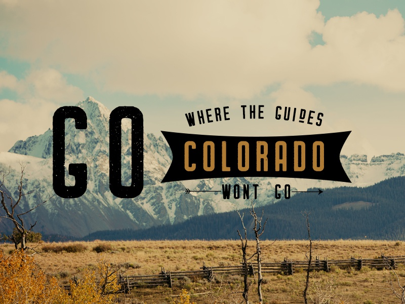 Colorado Back-country ad. fall photoshop graphic design advertisement ad tourism travel wilderness coloardo