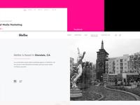 Minimalist Web Design for Mellbe