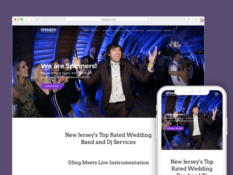 Website Design For Spinners Entertainment By Emin Sinanyan On Dribbble