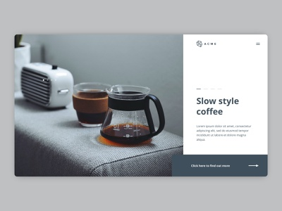 Slow Style Coffee - eCommerce Website Concept clean ecommerce website concept web design homepage design