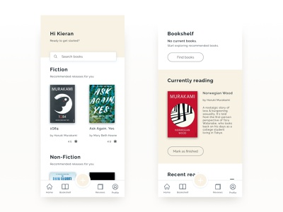 Goodreads - Mobile App UI/UX book app app design mobile ux ui clean app