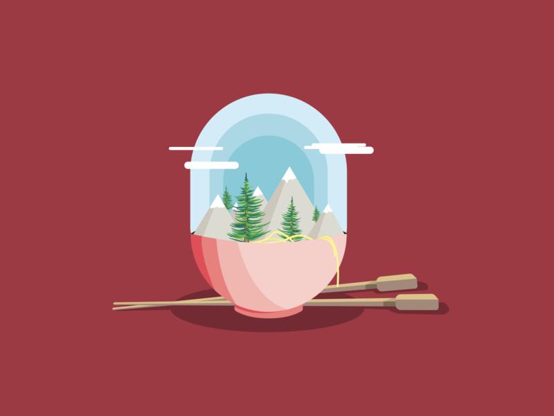 Ramen Illustration illustrator illustration design vector