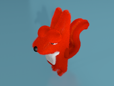 3d-fox, try with fur-simulater fox 3d modeling c4d 3d