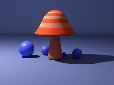 3D mushroom 3d blender blender3d