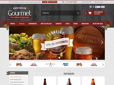 Emporium Gourmet ecommerce food drinks beer