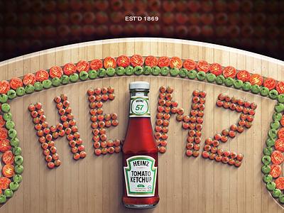 Heinz - Only Photoshop (Academic work) heiz katchup advertising