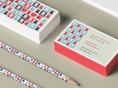 Visit Card and Pen redesign brand identity