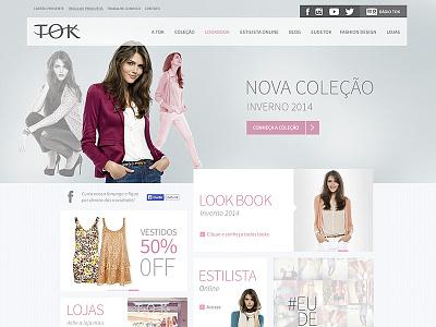 Tok - www.tok.com.br fashion clothing clean ai ux ui