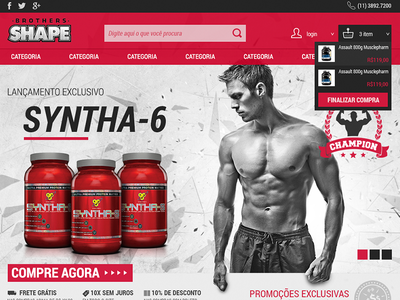 Brothers Shape  e-commerce gym fitness