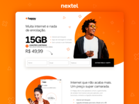 Landing page +Happy - Nextel telecommunications telecommunication fun telecom telco landing page