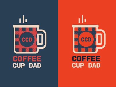 Coffee Cup Dad coffee logo design vector art vectordesign vectorart logo brand lifestye