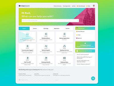 Employee Portal Concept portal design web design grahic design ux design ui design dashboard design