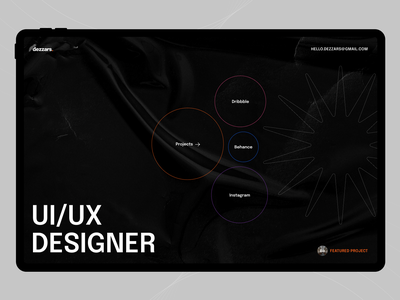 Portfolio | Design trends colors dark fullscreen website concept agency designer portfolio clean ui ux typography
