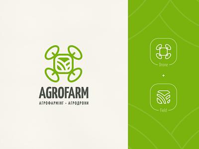 AgroFarming | Logo agronomy branding land culture green field tech drone logo farm farming agro