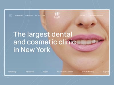 Dental Clinic | Website stomatology doctor medical health dentist header teeth dental care frontend ui design hero website clinic dental clean interaction colors typography ui ux