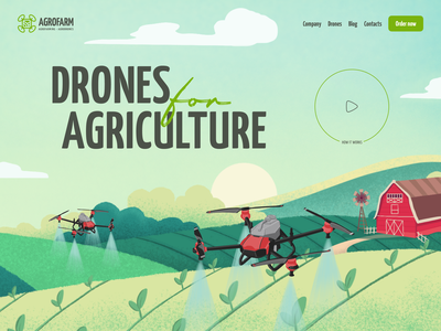 Agriculture | Concept ecology eco agrodrones plant seed monitoring nature nature harvest green farm header typography interaction ui ux concept drone field agronomy farming agriculture