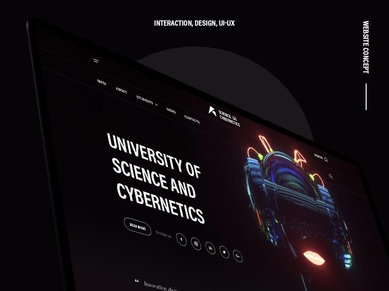 Concept website   Full landing page interaction dark header typography website presentation ui ux design cover