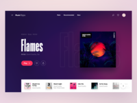 Music Page | Concept