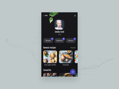 User Profile | DailyUI colors ui ux cooking recipes ios eat cook inspiration interaction mobile app food dailyui