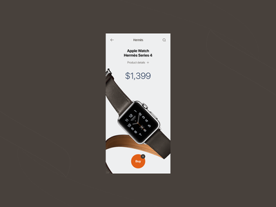 E-commerce Card | Daily UI concept typography clean product cart interaction card colors ui ux ios app e-commerce watch apple dailyui