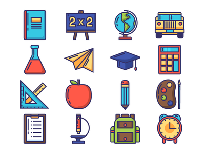 Colored Education Icon