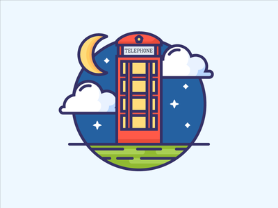 Icon of Red Telephone Box