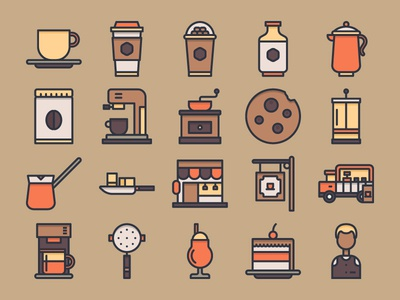 Coffee Shop Icon Set